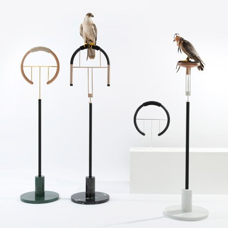 Falconry perches by Posa