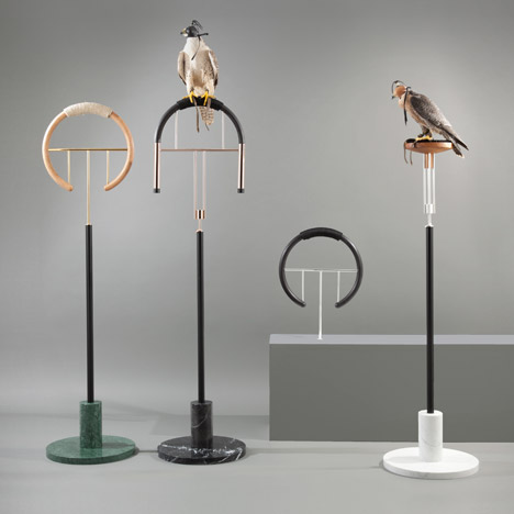 Massimo Faion's Posa Project reinterprets falconry perches