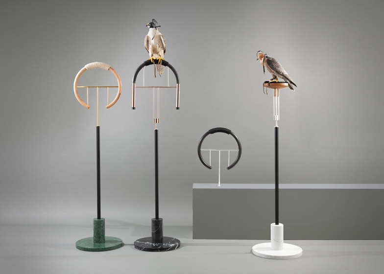 Falconry perches by Posa