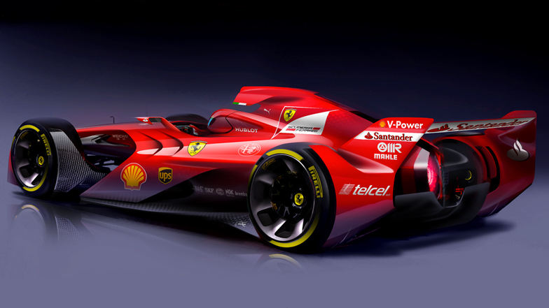 "Ferrari unveils ""aggressive-looking"" Formula One concept car"