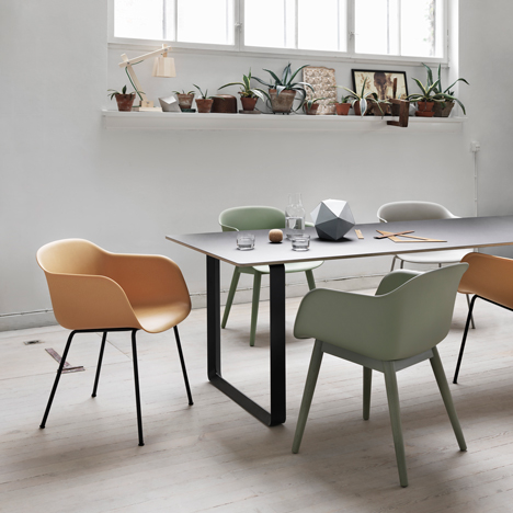 Iskos-Berlin updates the plastic shell chair with recyclable equivalent