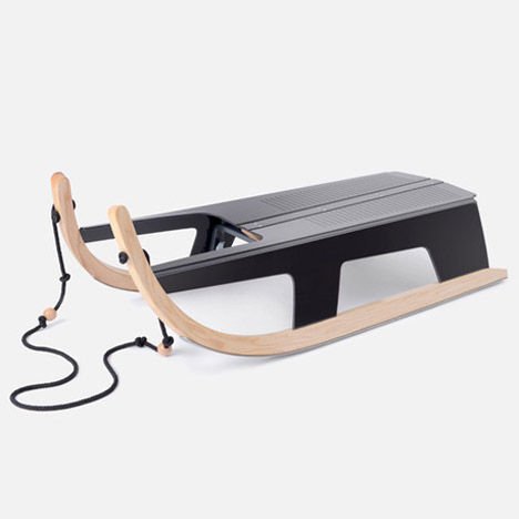 Max Frommeld and Arno Mathies create a folding sled
