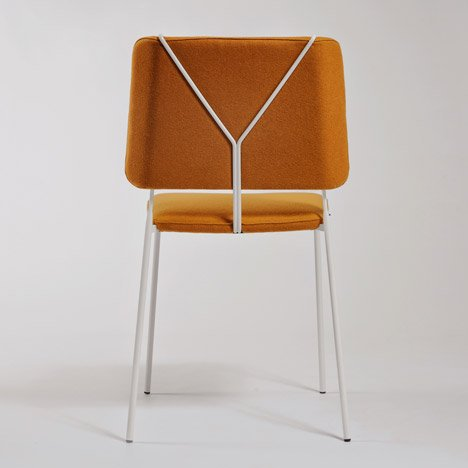Swing-era trouser braces inform Färg & Blanche's Frankie chair