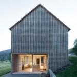 Haus Für Julia Und Björn is a wooden residence in Austria's picturesque Bregenz Forest