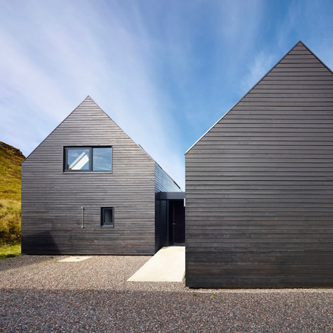 Black-stained house by Dualchas Architects completed on the coastline of a Scottish island