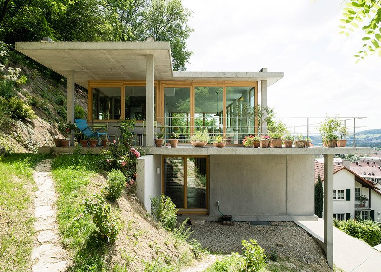 Gian Salis' House on a Slope terraces down hillside