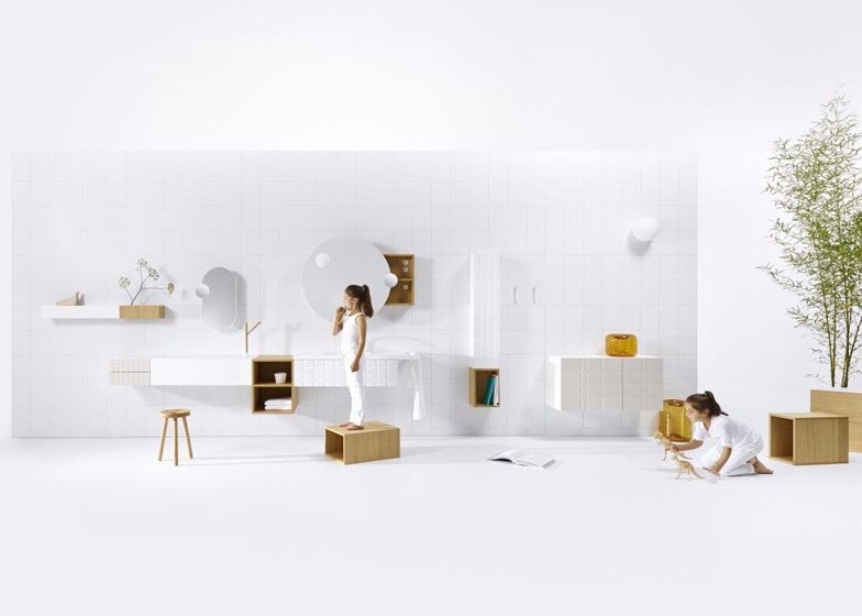 Ingrid bathroom collection by Jean-Francois D'Or for Vika