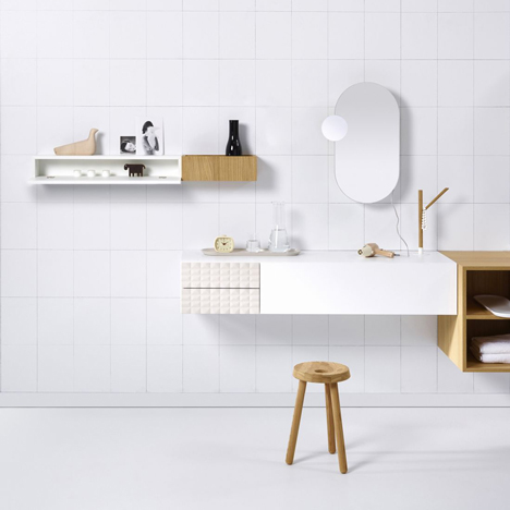 Vika's modular bathroom range is designed to create comfortable wash areas