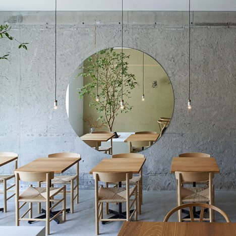 A small tree grows inside&ltbr /&gt Ito-biyori cafe by Ninkipen!