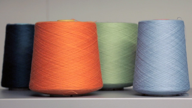Spools of Merino Wool used by Knyttan to produce bespoke knitwear