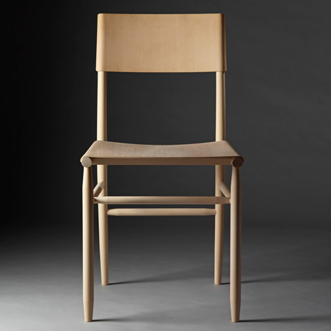 "David Ericsson ""revels in beech"" to create Madonna Chair for Gärsnäs"