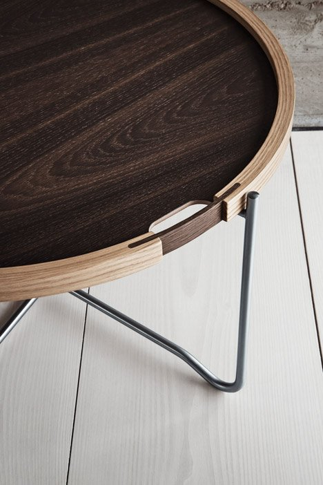 Carl Hansen & Son's update of the More Tray Table by Hans J. Wegner