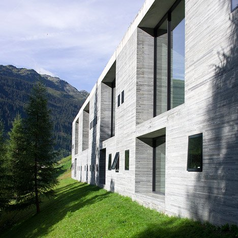 Morphosis chosen for hotel beside Peter Zumthor's Therme Vals spa