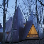 Woodland home by Hiroshi Nakamura designed to resemble a cluster of timber tepees