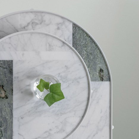 Note Design Studio and Norm Architects&ltbr /&gt design patchwork marble tables for Menu