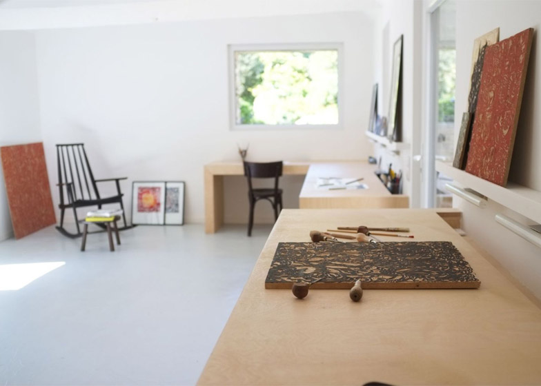 An old barn converted into an artist studio in Brittany by Modal Architecture