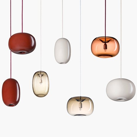 Pebble lamps by Jonas Karlsson for Orsjo