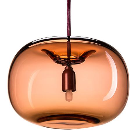 Joel Karlsson designs pebble-shaped pendant lights for Örsjö Belysning