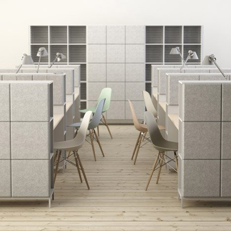 Johan Kauppi and Bertil Harström launch sound-absorbing office furniture for Glimakra