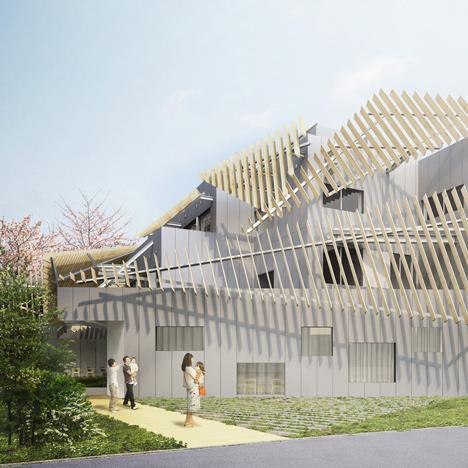 Kengo Kuma designs Tokyo hospital wrapped around a garden