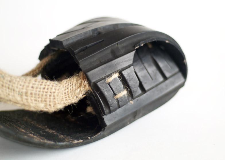 Soled tyre footwear by Jena Kitley, Alani Fadzil and Lauren Joseph