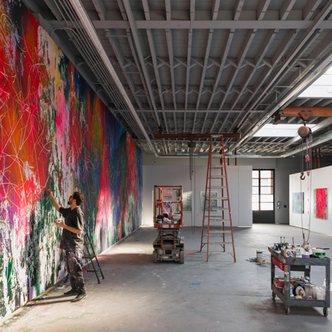 Brooklyn warehouse overhauled by Snøhetta&ltbr /&gt to create art studio for painter José Parlá
