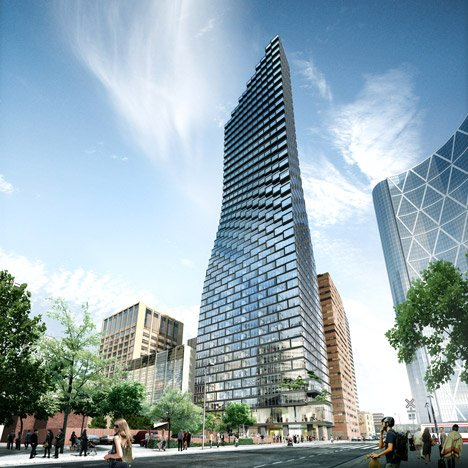 BIG's curvaceous Calgary skyscraper breaks ground next to Foster's Bow tower