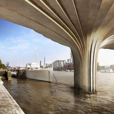 "New image shows ""super-strength"" cladding for Thomas Heatherwick's Garden Bridge"