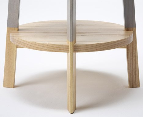 Two Color Stool by Naoya Matsumoto Design