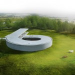 "BIG unveils looping ""snail"" house designed for a car collector"