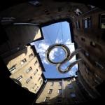 Zalewski Architecture imagines spiral walkway strung between high-rise buildings