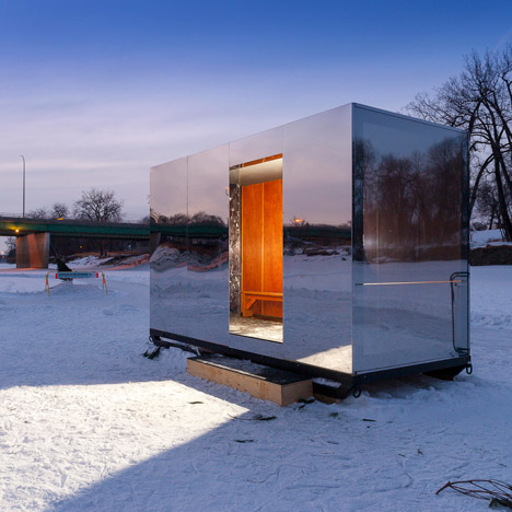 Warming Huts provide shelter for ice-skaters on Winnipeg's frozen river