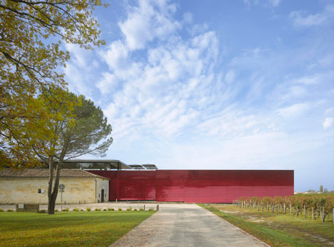 Winery Château la Dominique in Saint Emilion by Nouvel