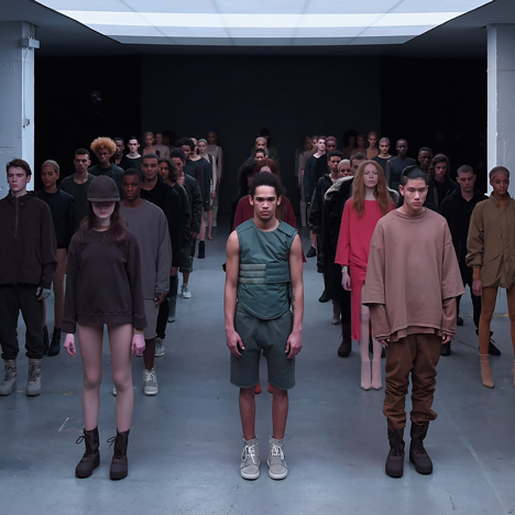 Kanye West debuts first Adidas collection and Yeezy Boost trainer