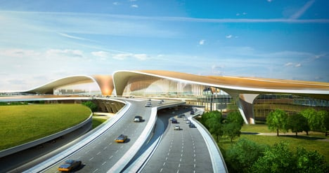 Zaha Hadid new airport terminal for Beijing