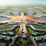 "Zaha Hadid unveils designs for ""world's largest airport passenger terminal"" in Beijing"