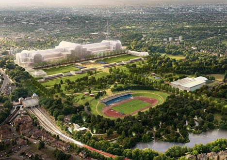 Zaha, Rogers and Chipperfield shortlisted for Crystal Palace rebuild_dezeen_1