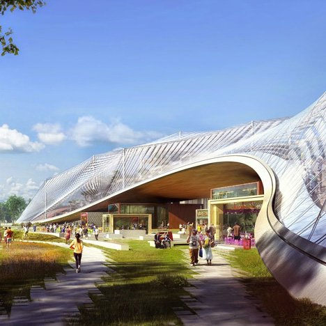 "BIG and Heatherwick unveil ""vibrant new<br /> neighbourhood"" for Google's California HQ"