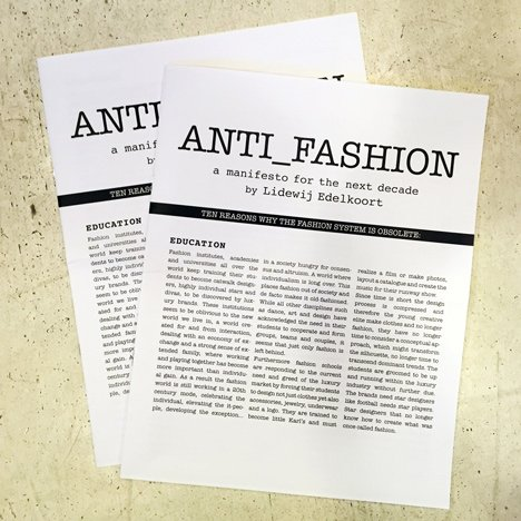 "Li Edelkoort publishes manifesto explaining why ""fashion is obsolete"""