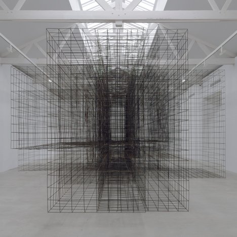 Antony Gormley occupies French gallery with monumental metal sculptures