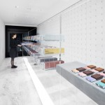 Nendo presents chocolate bars like paint swatches in Tokyo shop