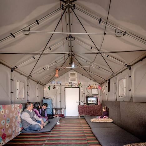Ikea's flat-pack refugee shelters<br /> go into production