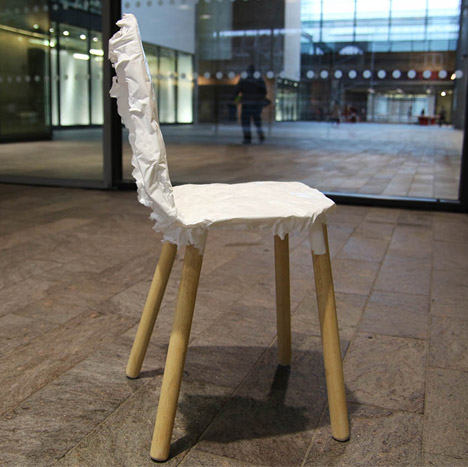 Crumpled Chair by Jongwoo Choi RCA