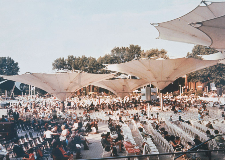 Large Umbrellas at the Federal Garden Exhibition, 1971, Cologne, Germany