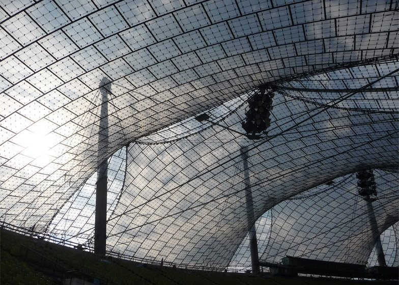 Roofing for main sports facilities in the Munich Olympic Park for the 1972 Summer Olympics, 1968–1972, Munich, Germany