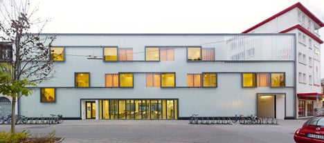 Grammar School in Karlsruhe, Germany by Netzwerk Architekten