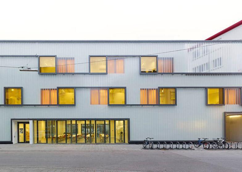 Grammar School in Karlsruhe, Germany by Netzwerk Architekten