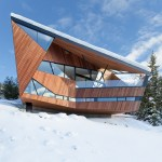 Patkau Architects designs chalet with steep angled roof beside a Whistler ski slope