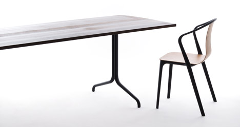 Hybrid Belleville chair by Bouroullec