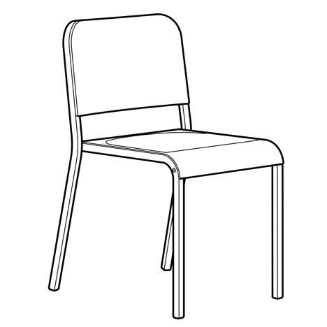 Melltorp Chair Illustration By Ikea